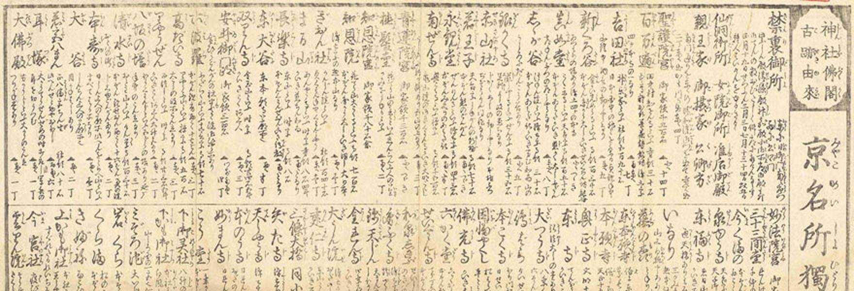 .[平安京御繪圖 : 并ニ名所ひとり案内].